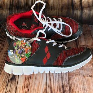 NWT DC Comics Harley Quinn Athletic Sneakers Sz.10